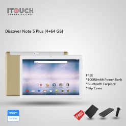 "Discover Note 5 Plus 64GB 4GB 10.1"" Tablet Gold + Free Bluetooth Headset & Flip Cover"