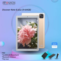 Discover Note 8 Plus 64GB - 4GB Tablet + Free Powerbank Cover Bluetooth Earpiece